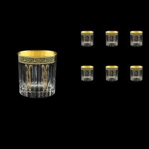 Timeless B2 TMGB H Whisky Glasses 360ml 6pcs in Lilit Golden Black Decor+H (31-291/H)