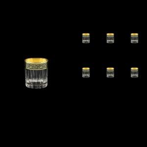 Timeless B5 TMGB Liqueur Tumblers 78ml 6pcs in Lilit Golden Black Decor (31-286)