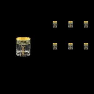 Timeless B5 TMGB H Liqueur Tumblers 78ml 6pcs in Lilit Golden Black Decor+H (31-286/H)
