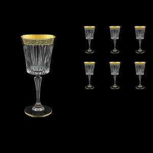 Timeless C2 TMGB Wine Glasses 298ml 6pcs in Lilit Golden Black Decor (31-289)