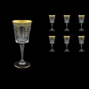 Timeless C2 TMGB H Wine Glasses 298ml 6pcs in Lilit Golden Black Decor+H (31-289/H)