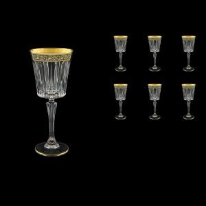Timeless C3 TMGB Wine Glasses 227ml 6pcs in Lilit Golden Black Decor (31-288)