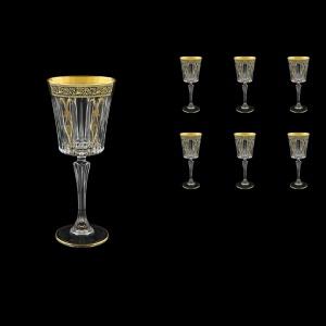 Timeless C3 TMGB H Wine Glasses 227ml 6pcs in Lilit Golden Black Decor+H (31-288/H)