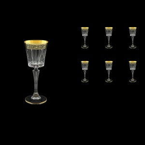 Timeless C5 TMGB Liqueur Glasses 110ml 6pcs in Lilit Golden Black Decor (31-287)