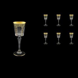 Timeless C5 TMGB H Liqueur Glasses 110ml 6pcs in Lilit Golden Black Decor+H (31-287/H)