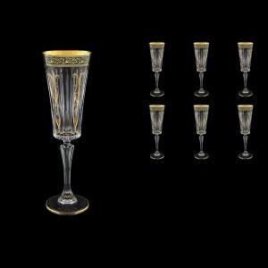 Timeless CFL TMGB H Champagne Fluetes 210ml 6pcs in Lilit Golden Black Decor+H (31-290/H)