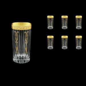 Timeless B0 TNGC H Water Glasses 440ml 6pcs in Romance Golden Classic Decor+H (33-292/H)