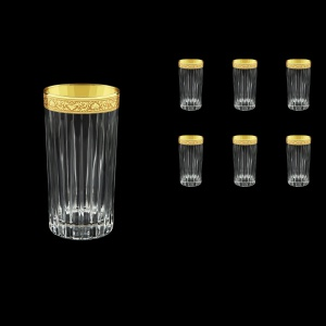 Timeless B0 TNGC Water Glasses 440ml 6pcs in Romance Golden Classic Decor (33-292)