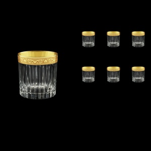 Timeless B2 TNGC Whisky Glasses 360ml 6pcs in Romance Golden Classic Decor (33-291)
