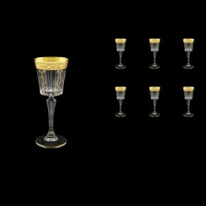 Timeless C5 TNGC H Liqueur Glasses 110ml 6pcs in Romance Golden Classic Decor+H (33-287/H)