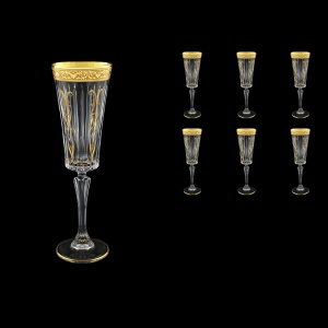 Timeless CFL TNGC H Champagne Fluetes 210ml 6pcs in Romance Golden Classic D.+H (33-290/H)