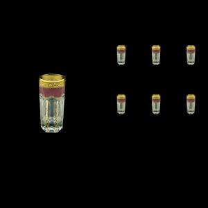 Provenza B5 PPGR Liqueur Tumblers 50ml 6pcs in Persa Golden Red Decor (72-267)