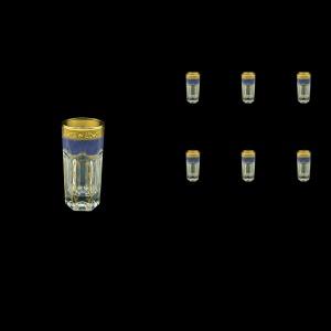Provenza B5 PPGC Liqueur Tumblers 50ml 6pcs in Persa Golden Blue Decor (73-267)