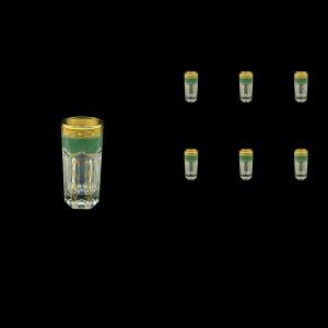 Provenza B5 PPGG Liqueur Tumblers 50ml 6pcs in Persa Golden Green Decor (74-267)