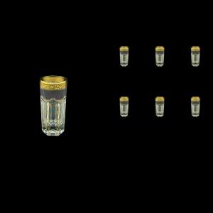 Provenza B5 PPGB Liqueur Tumblers 50ml 6pcs in Persa Golden Black Decor (76-267)