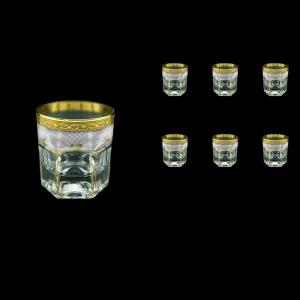 Provenza B2 PPGW Whisky Glasses 280ml 6pcs in Persa Golden White Decor (71-273)