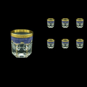 Provenza B2 PPGC Whisky Glasses 280ml 6pcs in Persa Golden Blue Decor (73-273)