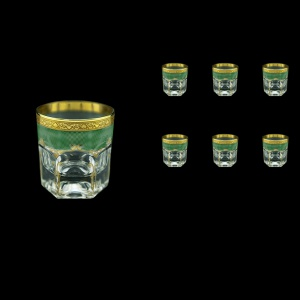 Provenza B2 PPGG Whisky Glasses 280ml 6pcs in Persa Golden Green Decor (74-273)