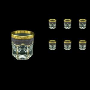 Provenza B2 PPGB Whisky Glasses 280ml 6pcs in Persa Golden Black Decor (76-273)