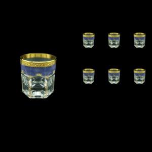 Provenza B3 PPGC Whisky Glasses 185ml 6pcs in Persa Golden Blue Decor (73-272)