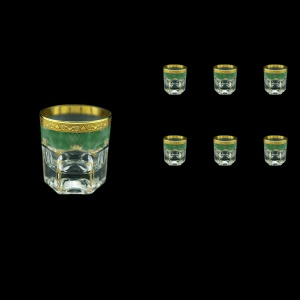 Provenza B3 PPGG Whisky Glasses 185ml 6pcs in Persa Golden Green Decor (74-272)