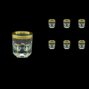 Provenza B3 PPGB Whisky Glasses 185ml 6pcs in Persa Golden Black Decor (76-272)