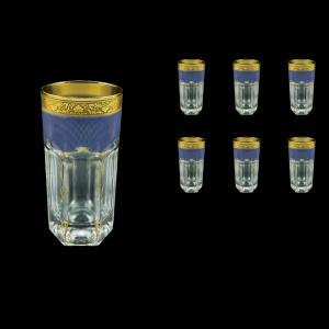 Provenza B0 PPGC Water Glasses 370ml 6pcs in Persa Golden Blue Decor (73-274)