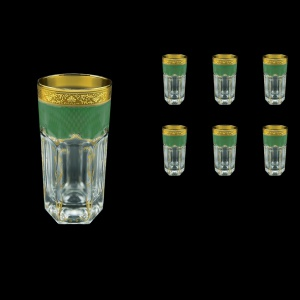 Provenza B0 PPGG Water Glasses 370ml 6pcs in Persa Golden Green Decor (74-274)