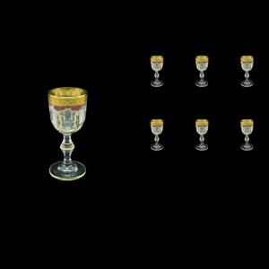 Provenza C5 PPGR Liqueur Glasses 50ml 6pcs in Persa Golden Red Decor (72-268)