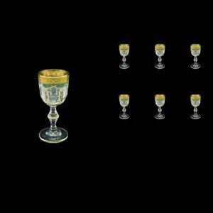 Provenza C5 PPGG Liqueur Glasses 50ml 6pcs in Persa Golden Green Decor (74-268)