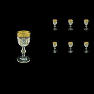Provenza C5 PPGB Liqueur Glasses 50ml 6pcs in Persa Golden Black Decor (76-268)