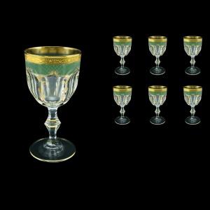 Provenza C2 PPGG  Wine Glasses 230ml 6pcs in Persa Golden Green Decor (74-270)