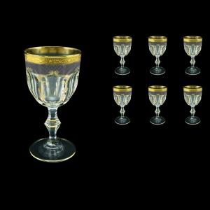 Provenza C2 PPGB  Wine Glasses 230ml 6pcs in Persa Golden Black Decor (76-270)
