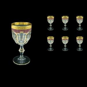 Provenza C3 PPGR Wine Glasses 170ml 6pcs in Persa Golden Red Decor (72-269)