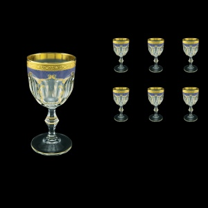 Provenza C3 PPGC Wine Glasses 170ml 6pcs in Persa Golden Blue Decor (73-269)