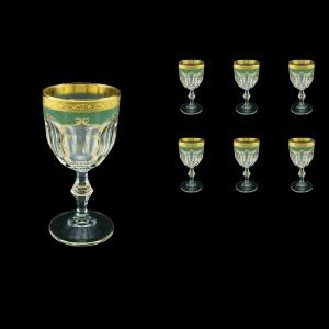 Provenza C3 PPGG Wine Glasses 170ml 6pcs in Persa Golden Green Decor (74-269)