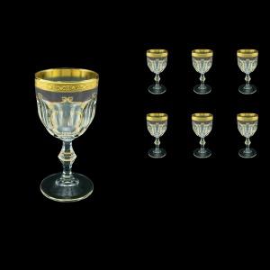Provenza C3 PPGB Wine Glasses 170ml 6pcs in Persa Golden Black Decor (76-269)