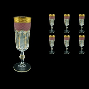Provenza CFL PPGR Champagne Flutes 160ml 6pcs in Persa Golden Red Decor (72-271)
