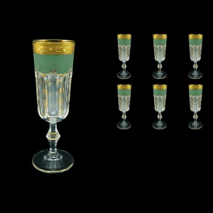 Provenza CFL PPGG Champagne Flutes 160ml 6pcs in Persa Golden Green D (74-271)