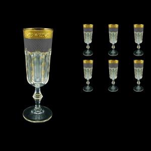 Provenza CFL PPGB Champagne Flutes 160ml 6pcs in Persa Golden Black D (76-271)