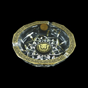 Opera PO OOGB Ashtray d17,5cm 1pc in Lilit&Leo Golden Black Decor (41-406)