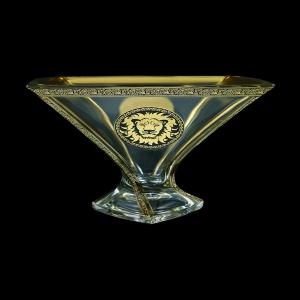 Bohemia Quadro MV QOGB B Bowl d32,5cm 1pc in Lilit&Leo Golden Black Decor (41-469)