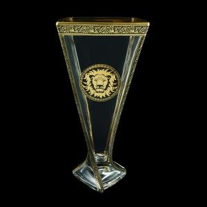 Bohemia Quadro VV QOGB B Vase 330,1pc in Lilit&Leo Golden Black Decor (41-468)