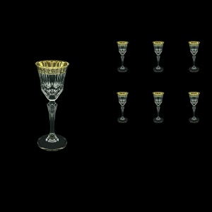 Adagio C5 AMGB Liqueur Glasses 80ml 6pcs in Lilit Golden Black Decor (31-480)