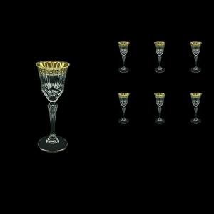 Adagio C5 AMGB Liqueur Glasses 80ml 6pcs in Lilit Golden Black Decor (31-480)