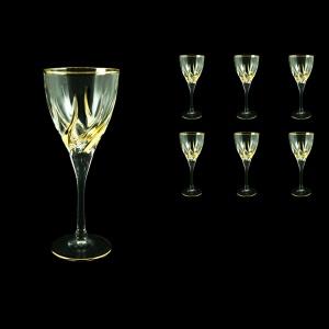 Trix C2 TCG Wine Glasses 240ml 6pcs in Clear&Gold (1242)