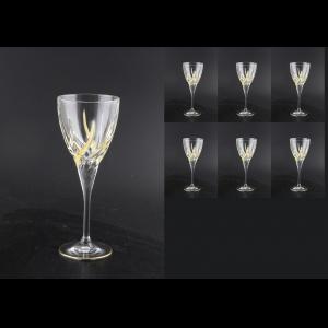 Trix C3 TCG Wine Glasses 180ml 6pcs in Clear&Gold (1241)