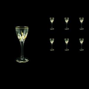 Trix C5 TCG Liqueur Glasses 70ml 6pcs in Clear&Gold (1240)