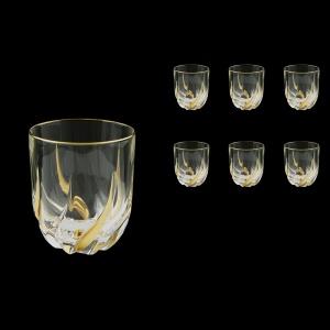 Trix B2 TCG Whisky Glasses 400ml 6pcs in Clear&Gold (1245)