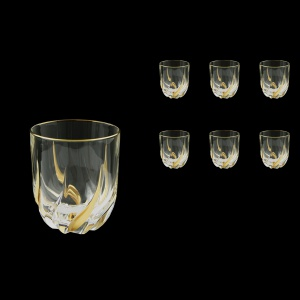 Trix B3 TCG Whisky Glasses 290ml 6pcs in Clear&Gold (1244)